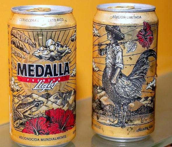 Diseños de latas de Medalla por Alexis Díaz