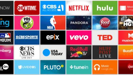 logos de los servicios de entretenimiento via streaming