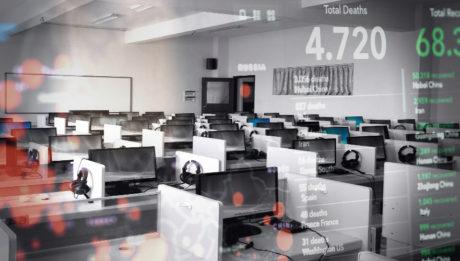 call center vacío empleados cuarentena